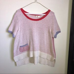 Moth Anthropologie Short Sleeve Sweater Top